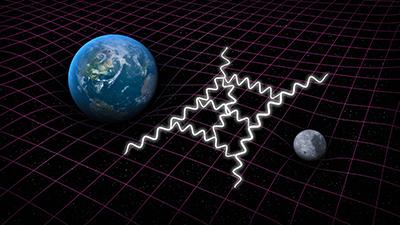 양자 중력은 아인슈타인의 일반상대성이론과 양자역학을 결합하려고 시도한다. 호킹은 양자이론이 지배하는 입자들과 장들이 고전적 시공간 배경에서 어떤 현상을 보이는지에 주목했다. - SLAC National Accelerator Lab 제공