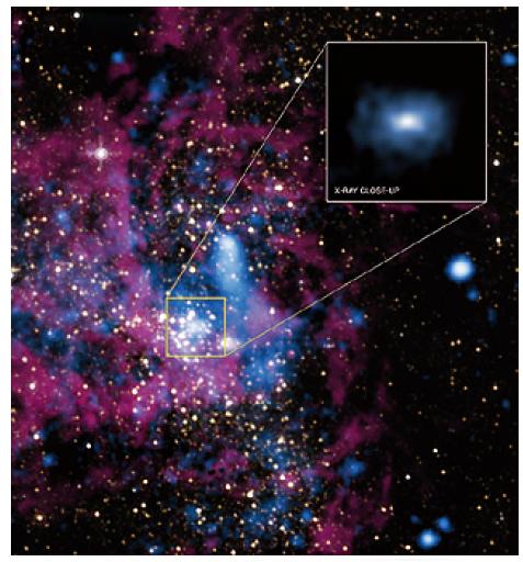 미국항공우주국(NASA)의 '찬드라 X선 우주망원경'으로 2012년 촬영한 거대 블랙홀 '궁수자리 A* ' 주변부. - NASA, UMass, D.Wang et al; NASA,STSci 제공