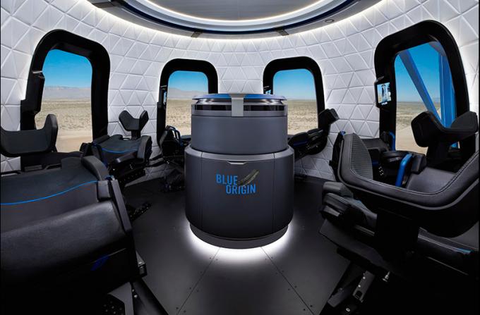 캡슐 형태의 뉴 세퍼드 – 블루 오리진 제공