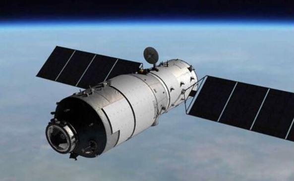 중국 최초의 우주정거장 '톈궁(天宮) 1호'. 2016년 11월 통제불능 상태에 빠져 지구로 추락하고 있다. 2일 오전 지구 표면으로 떨어질 전망이다. - 과학기술정보통신부 제공