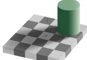 "Edward H. Adelson, ""Checkershadow Illusion"" (1995)"