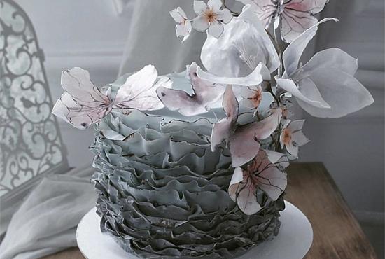 초정밀 예술적인 케이크
