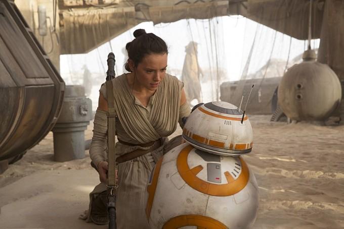 BB-8의 모습. 귀여운 외모로 큰 인기를 끌었다.
