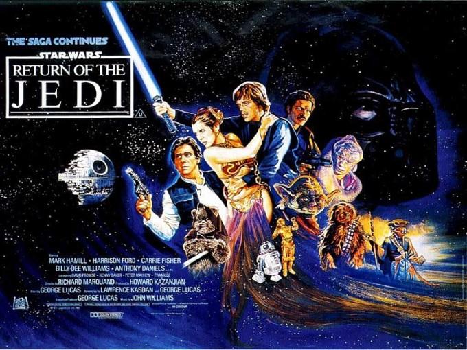 1987년 개봉한 '스타워즈 에피소드 6 - 제다이의 귀환' 편 포스터. 포스터 내부에 R2와 C-3의 모습이 보인다.