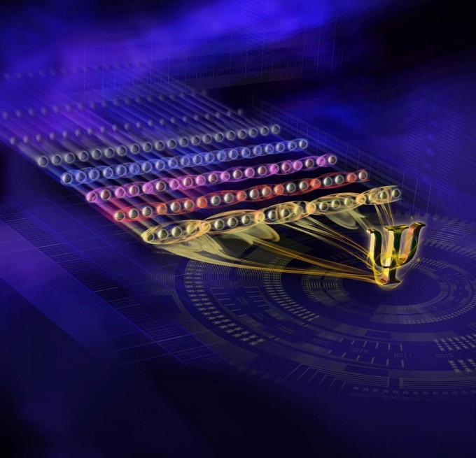 오스트리아 인스부르크대는 이온트랩 방식으로 20개 양자를 조절하는 데 성공했다. -사진 제공 인스부르크대