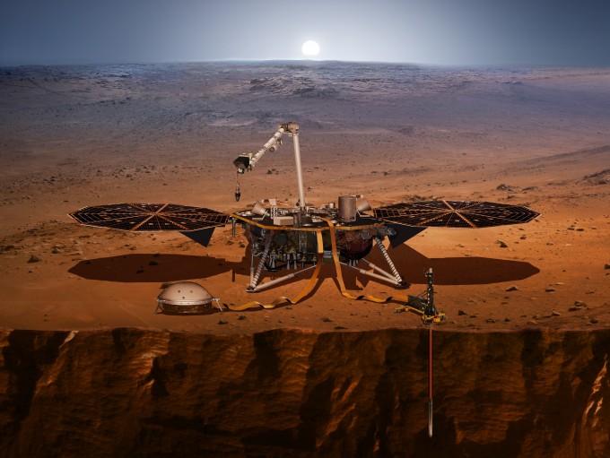 미국항공우주국(NASA)은 새로운 화성 탐사선 '인사이트(InSight)'를 5일 새벽(현지 시간) 발사했다. 화성 내부의 지진을 측정해 내부 구조를 밝히고 지열을 측정해 행성의 형성 과정을 연구할 자료를 얻을 예정이다. - 사진 제공 미국항공우주국(NASA)