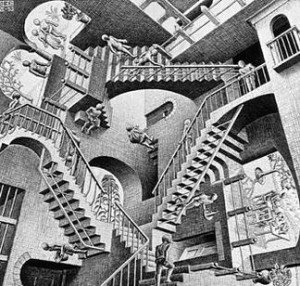 상대성 Relativity (by M. C. Escher) - wikipedia 제공