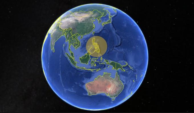 연구팀은 70만년 전 인류가 어떤 경로로 필리핀 섬에 왔는지추정했다. 사진은 현재 필리핀의 모습-사진 구글 맵 제공
