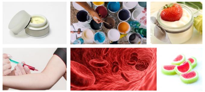 일상생활에서 접하는 연성재료. 화장품, 페인트, 요거트, 피, 젤리 - 사진 pixabay 제공