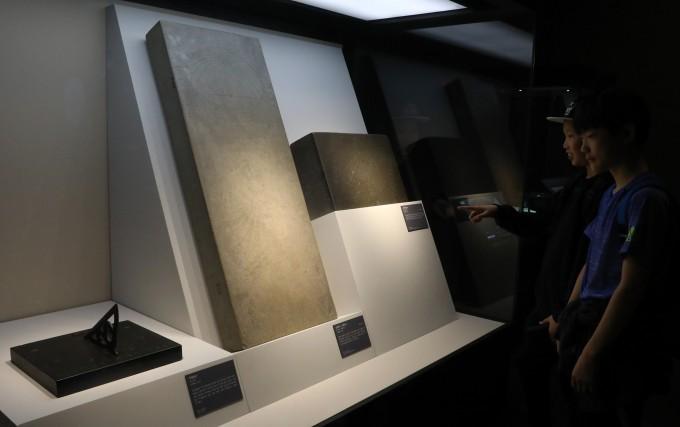 조선의 해시계. 왼쪽부터 지평일구, 간평일구.혼개일구(보물 841호), 신법 지평일구(보물 840호)