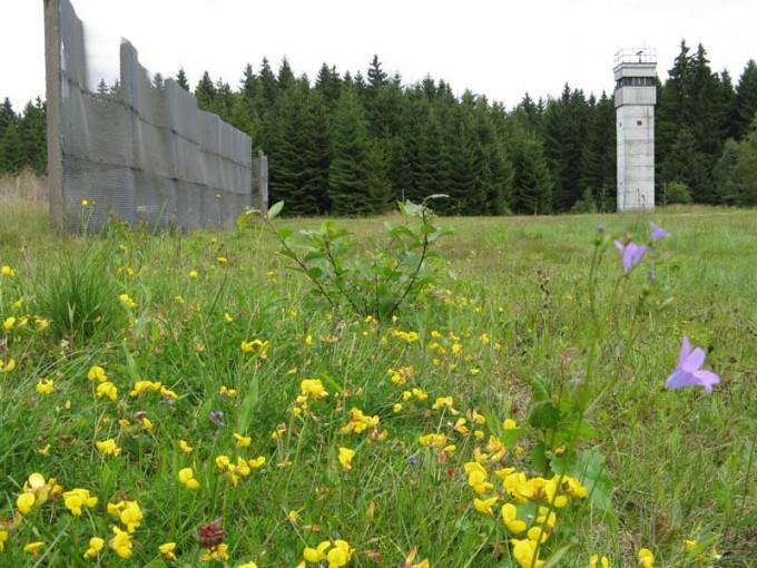 그뤼네스 반트엔 아직 철조망과 감시탑 일부가 남아 있다. - BUND 제공