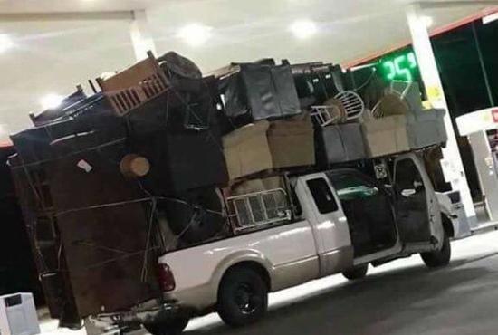 심각한 과적, 위험한 트럭