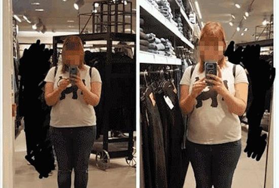 옷 가게 거울의 속임수?