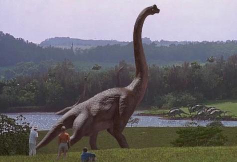 1993년에 개봉한 영화 '쥬라기 공원'에 등장한 브라키오사우루스 - UPI 코리아