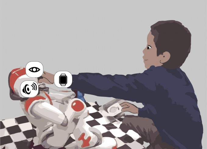 미국 및 일본 연구팀이 어린이 개개인에게 맞춘 자폐스펙트럼장애(ASD) 치료 인공지능을 개발해 로봇에 적용했다. 영상 및 음성, 생체 데이터를 바탕으로 개인에 맞춰 반응한다. - 이재령 교수 제공