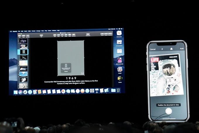 맥과 아이폰의 카메라가 연결되는 연결성 업데이트. - 최호섭 기자