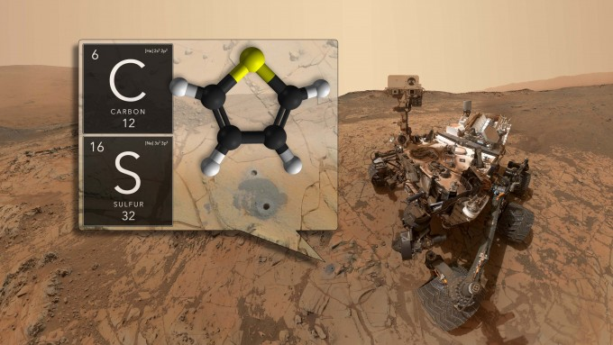 화성탐사선 큐리오시티가 화성의 암석에서 유기화합물 분자를 발견했다. 35억 년 전의 암석에서 발견해, 과거 생명체의 존재 가능성과 관련이 있는지 주목 받고 있다. -사진 제공 NASA
