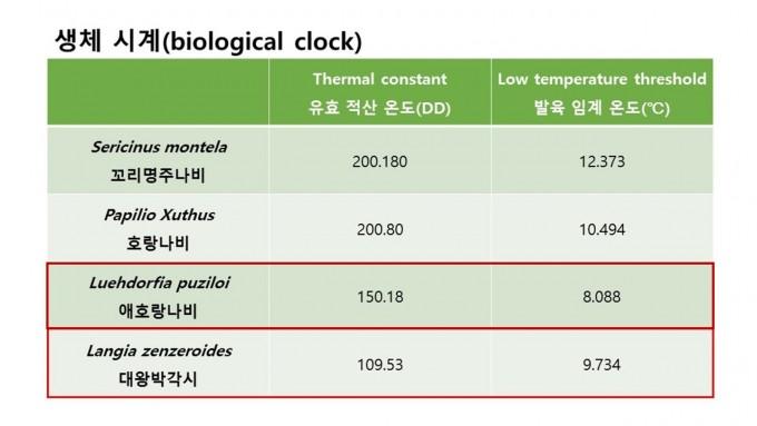 생체시계 - 홀로세생태보존연구소 제공