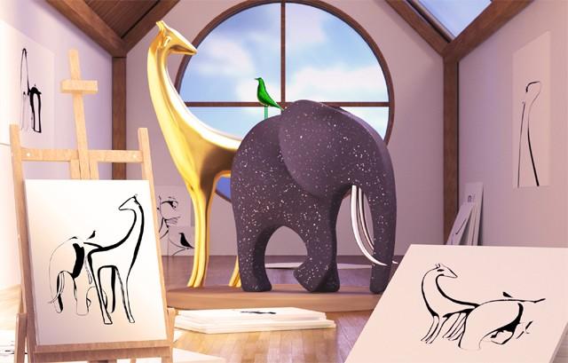 마치 그림 속 동물이 3D로 눈앞에 나타나는 것과 같다. - 구글 딥마인드