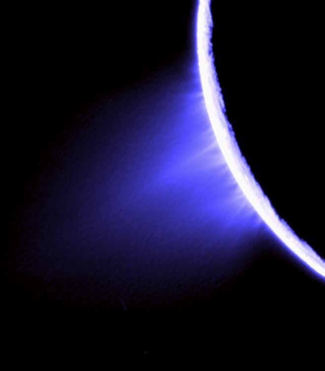 토성 위성 엔켈라두스의 '분수'. - 사진 제공 NASA