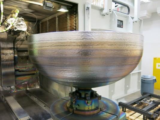 지름 1.2m 티타늄 인공위성 부품, 3D 프린터로 만들었다