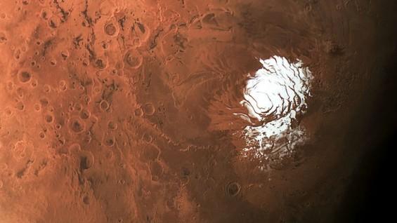 """화성에 생명체 필수조건 '액체상태 물' 새 단서…""""남극 밑 반경 20㎞ 호수 있다"""""""