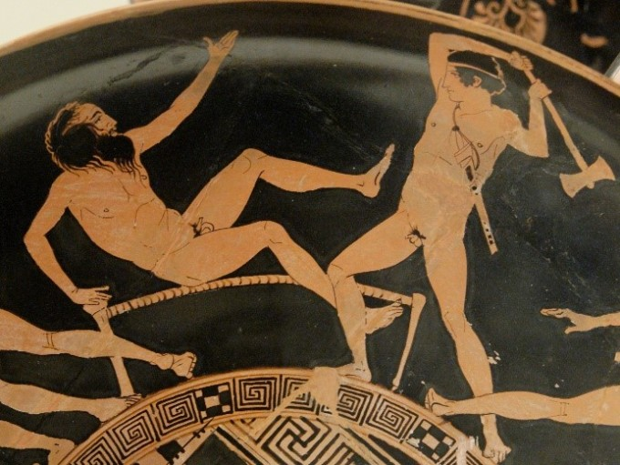 침대 길이에 맞춰 사람을 죽이던 프로크루스테스는 영웅 테세우스에 의해서 똑 같은 방법으로 처벌을 받는다. 프로크루스테스 본인 조차도, 자신의 침대 길이에 맞출 수 없었다. - 위키미디어 제공