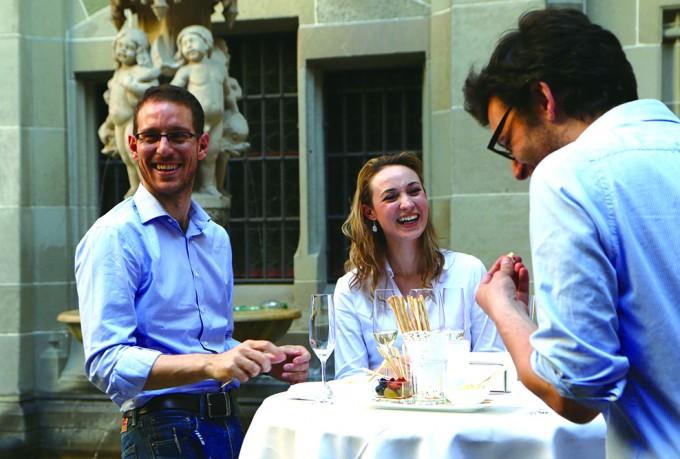 2015년 6월 열린 취리히 국립공과대 수학 연구소 50주년 기념행사에 참석한 피갈리 교수(맨 왼쪽). - Ⓒ2018 ETH Zurich