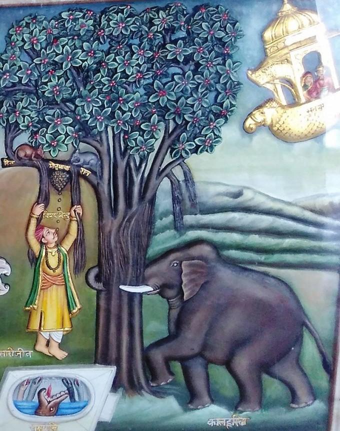 힌두교나 불교, 자이나교의 윤회사상은 사람들이 육식을 자제하는 데 큰 영향을 미치고 있다. 윤회를 상징하는 자이나교의 그림이다. - 위키피디아 제공