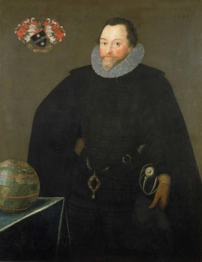 프랜시스 드레이크 경. 드레이크는 반사회적 행동을 일삼은 해적이었지만, 엘리자베스 1세 여왕은 그에게 기사의 작위를 내렸고, 심지어 영국 함대의 지휘권을 주기도 했다. 그는 왕실의 사략증을 가지고 수많은 약탈을 행한 '나쁜' 사람이었지만, 동시에 스페인 함대를 쳐부수고, 영국 최초로 세계 일주를 완수했으며, 카리브해를 탐험한 출중한 개척자였다. - 위키미디어 제공