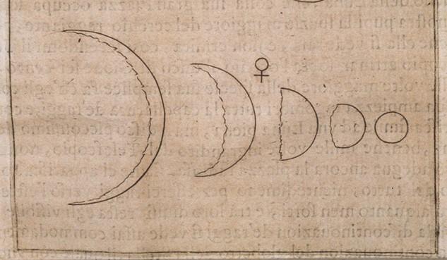 갈릴레오가 그린 금성의 모양 변화 -  ircamera.as.arizona.edu제공