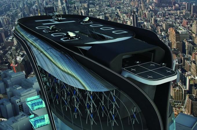 미래 공항의 상상도. 개인 이동 수단에 대한 수요가 늘어나면서 미래 공항은 도심 속 건물에 개인이 이용하는 형태로 바뀔 수도 있다. - HUMPHREYS&PARTNERS 제공