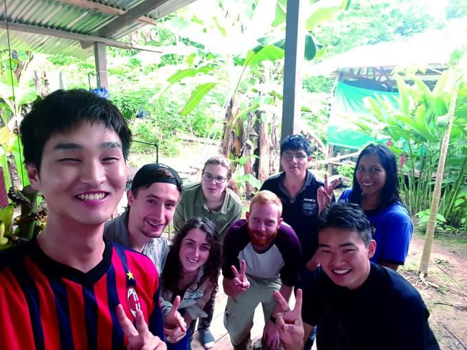 아마존 연구소에서 6주간 함께한 양서파충류, 조류 조사팀원들 - 전종윤 연구원 제공