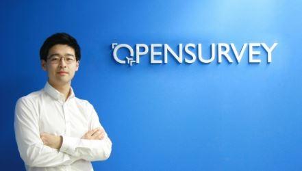 오픈서베이 창업 초기인 2012년 당시 김동호 대표