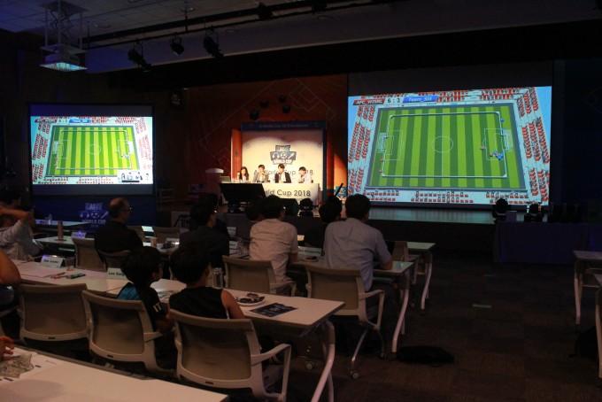 이달 20일부터 사흘간 대전 KAIST 본원에서 열린 인공지능(AI) 월드컵 국제대회의 마지막 날인 22일 결승전 경기가 열렸다. - 대전=송경은 기자 kyungeun@donga.com