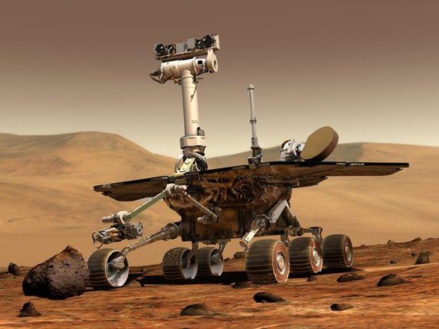 화성탐사 로봇 오퍼튜니티. 미국항공우주국 제공.