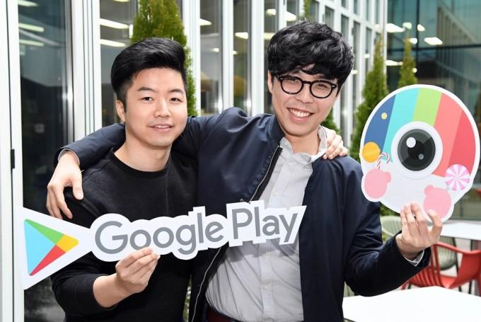 박상철 JP브라더스 CTO(왼쪽)와 안세윤 대표