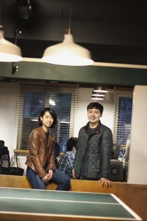 박무순 오드엠 대표(오른쪽)와 안소연 부사장