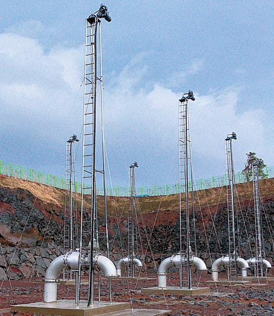 국내 연구진이 제주 현지업체와 공동으로 개발해 제공한 지하수 인공함양 장치. 한국지질자원연구원 제공