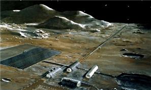 1970년대에 NASA가 상상했던 달 개발 사업 조감도 - NASA 제공