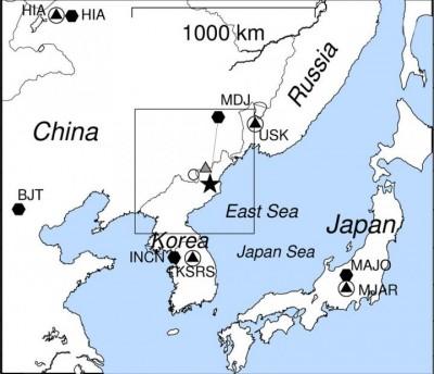 """북한서 규모 2.5 지진…""""2017년 6차핵실험 영향 추정"""""""