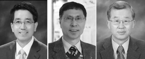 왼쪽부터 현택환, 김광수, 이서구 교수-한국연구재단 제공