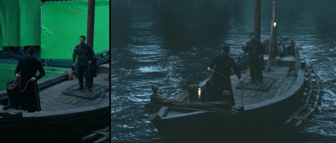 유체는 CG 작업 중 가장 고난이도 작업으로 많은 시간을 필요로 한다. '신과함께-인과 연'은 저승 속 강인 삼도천의 비중이 크게 늘어 전작보다 유체 표현이 더욱 중요해졌다.