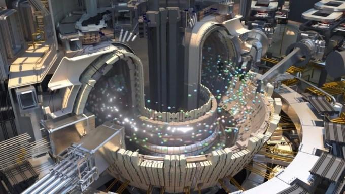 국제핵융합실험로(ITER) 토카막 상상도. 고에너지 중성자를 충돌시켜 열을 내는 중성입자빔가열장치(NBI) 등으로 플라즈마를 평균 1억5000만 ℃까지 가열해 핵융합 반응을 유도한다. - 자료: ITER 국제본부