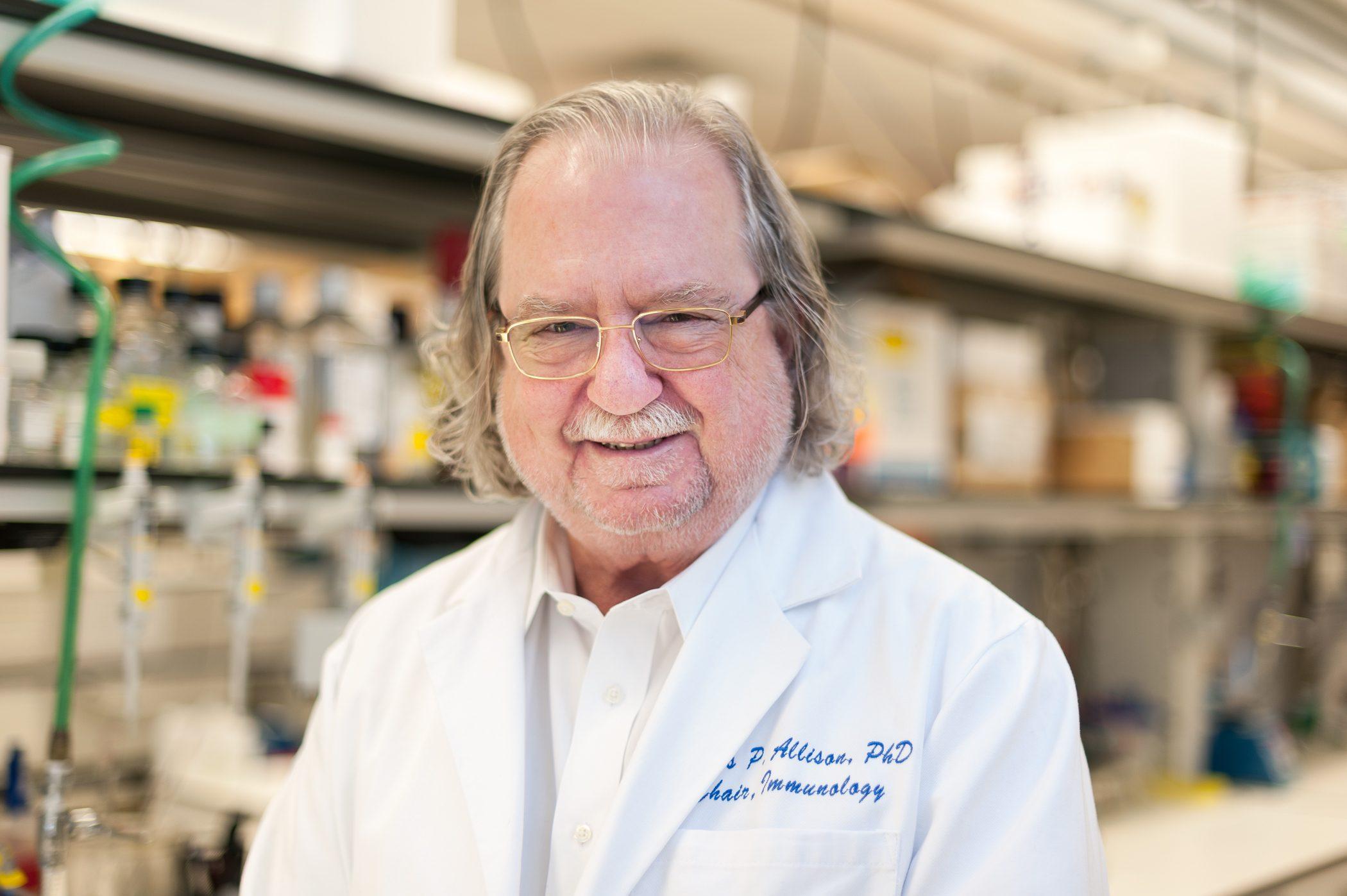 새로운 항암 치료의 길을 열어 2018 노벨 생리의학상을 수상한 제임스 앨리슨 박사.