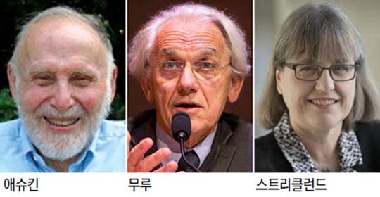 '레이저 정밀기기 산파' 노벨 물리학상, 3명 공동수상… 55년만에 여성도 영예