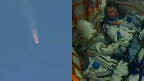 러 소유스 로켓  발사 직후 고장…러·미우주인 비상탈출