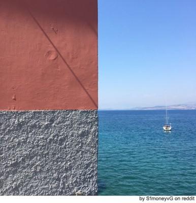착시와 혼돈, 그리스 바다 풍경