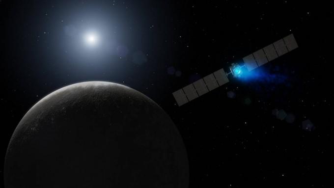 왜행성 세레스의 궤도를 돌며 탐사하고 있는 소행성탐사선 돈(DAWN)이다 -미국 항공우주국 제공