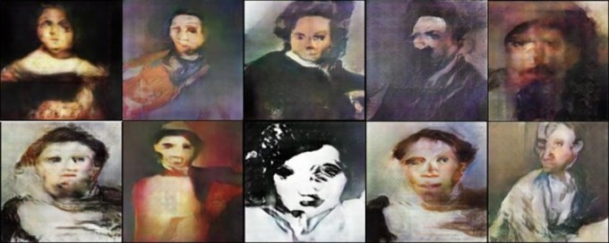 지난 5세기의 초상화를 분석해 인공지능이 변형시킨 얼굴들. - 아메드 엘가말 제공